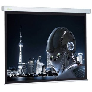Рулонный матовый белый экран cactus Wallscreen CS-PSW-128x170