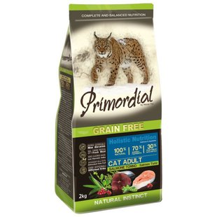 Корм для кошек Primordial Grain Free Cat Adult Salmon Tuna