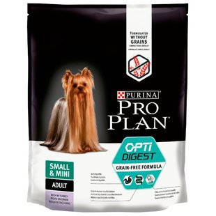 Корм для собак Purina Pro Plan Grain Free Small & Mini Adult canine OptiDigest rich in Turkey dry