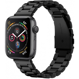 Ремешок для Apple Watch 42, 44 mm (Spigen Modern Fit 062MP25403) (черный)